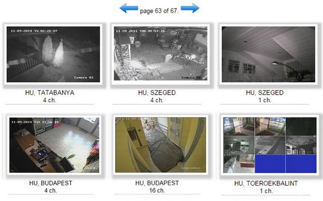 kamerák gyári beállításokkal